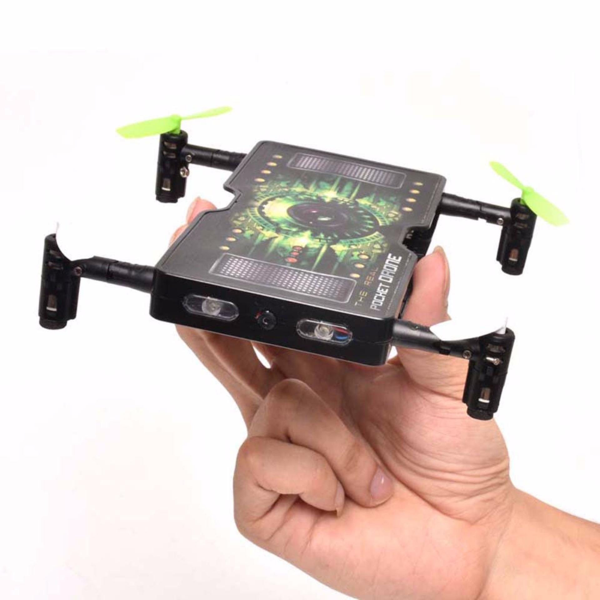 Folding Pocket Mini drone Wifi Selfie Camera 2.4G 4CH RC Quadcopter1325