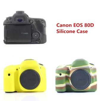 For Canon EOS 80D Silicone Case Camera Bag Rubber Body Protective Cover - intl