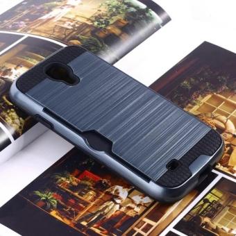 For Samsung Galaxy S4/i9500 Armor Metal Silicon TPU +Hard PC Shockproof Card Slot