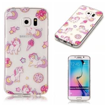 High Quality Unicorn TPU Soft Gasbag Back Case Cover For Samsung Galaxy S6 Edge Case -