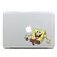 Laptop Stickers For Mac Funny Price In Singapore - Spongebob macbook decal