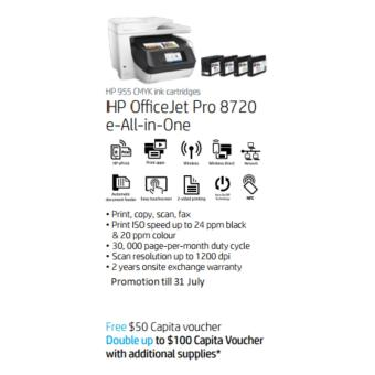HP OfficeJet Pro 8720 All-in-One Printer (Promotion Extended till 30 Nov)