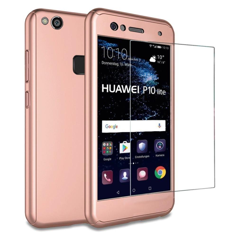 Bán Mua Huawei P10 Lite Ốp Lưng Mooncase 360 ° Bảo Vệ Đầy Đủ Mờ Cứng Pc Hybrid Sieu Mỏng Kinh Cường Lực Cho Huawei P10 Lite Quốc Tế