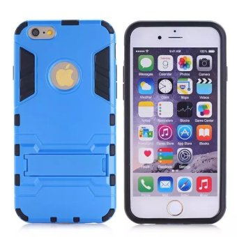 Harga PC + TPU Hybrid Armor Hard Case for iPhone 6 Plus / 6S Plus (Blue) - intl