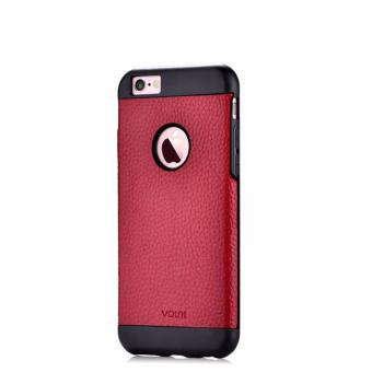 Luxury Premium Leather Case 4.7 Inch Back Cover for Apple iPhone 6S 6(Red) - intl