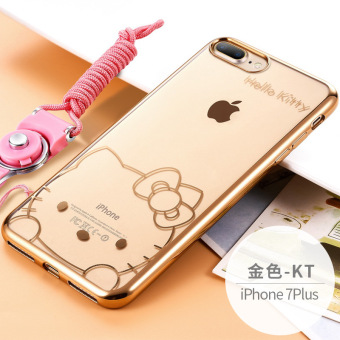 Harga Apple 7plus lanyard halter style soft silicone phone case s hello hello kitty female models to send film