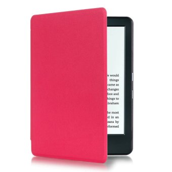 Harga GETEK Thin PU Leather Case Cover for Amazon Kindle 8th 2016 (Rose Red)