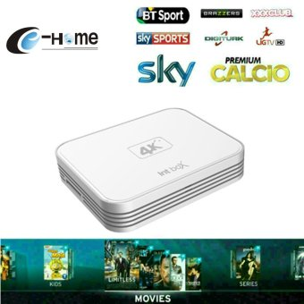 Harga Super IPTV S912 2G 8G qcta Core i7 intbox TV box live channel 4000 VOD Movies Europe iptv Italy IPTV Android 6 2G / 2.4GHz Media Player - intl