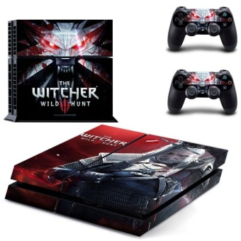 Harga new The Witcher 3 Wild Hunt Vinyl Decal PS4 Skin Sticker For Sony Playstation 4 PS4 Console Protection Film And 2pcs Controller Protective Skins GYTM0410 - intl