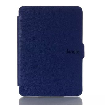 Harga Leather Protective Flip Cover for Kindle Touch 2014 (Dark Blue)