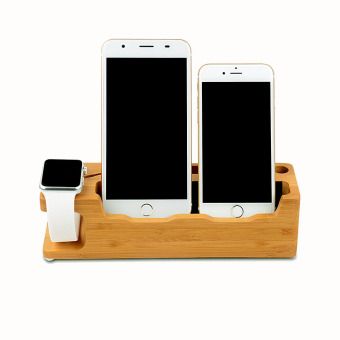 Harga niceEshop 3 in 1 Charging Station Dock for IWatch IPhone 6S 6 6S Plus 6 Plus 5S 5 SE 4S with Card and Pen Slot