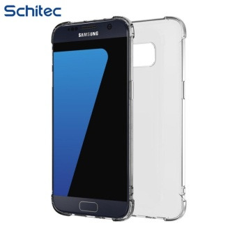 Harga Galaxy S7 Case, SCHITEC Premium Protective Case for Samsung Galaxy S7 Cover | Clear TPU Exchange | Explosion-Proof Screen Protector | Ultra Slim Clear Back Hard Panel Cover - intl