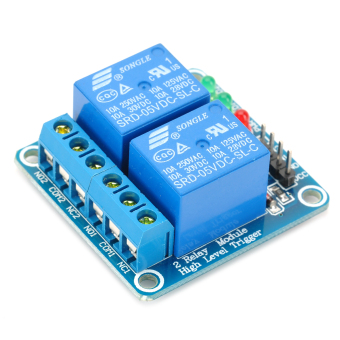 Harga 2 Channel 5V High Level Trigger Relay Module for Arduino (Works with Official Arduino Boards)