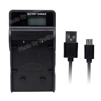 Harga EN-EL10 LCD Ultra Slim USB Charger for Nikon Coolpix S200 S203 S210 S220 S230 S3000 S4000 S500 S510 S5100 S520 S570 S60 S600 S700 S80 Digital Camera - intl