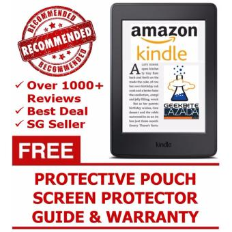 Harga Amazon Kindle Paperwhite 300 PPI 2016 + Kindle Protective Pouch + Screen Protector (USA/Special Offers) - White