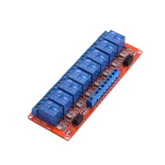 Harga ZUNCLE 8-Channel 12V Relay Module W/ Optocoupler for Arduino(Red + Blue)