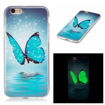 Harga Ueokeird Ultra Thin Luminous Embossed Slim Soft Silicone Phone Case Skin TPU Cover For Apple iPhone 6 Plus / 6s Plus - intl