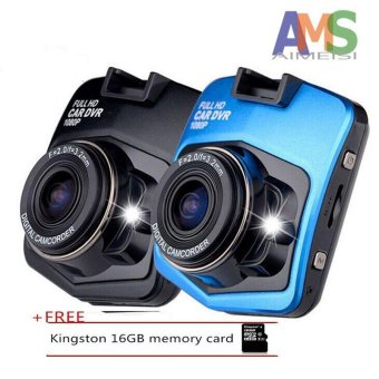 Harga AMS Mini Car DVR Camera GT300 Camcorder 1080P Full HD Video Registrator Parking Recorder G-sensor Dash Cam+Free 16gb memory carde_black - intl