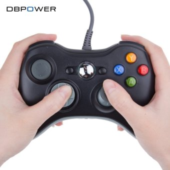 Harga USB Wired Joypad Gamepad Black Controller For Xbox 360 Joystick For Official Microsoft PC for Windows 7 / 8 / 10 - intl
