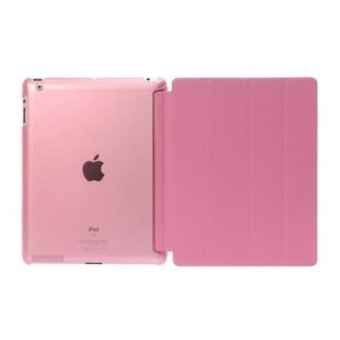 Welink Ultra Slim Smart Cover PU Leather Case for Apple iPad 2/3/4 (Pink) - intl
