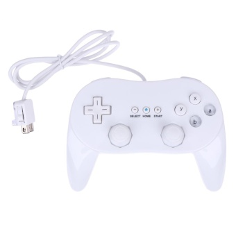 Harga Pro Classic Game Controller Joypad For Nintendo Wii(White) - intl