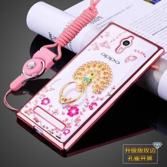 Harga Secret Garden Rhinestone Soft Shell Case Cover For Oppo Find 7 (peacock rose gold) - intl
