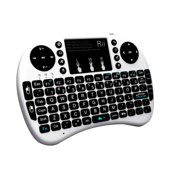 Harga English Version Rii i8+ 2.4G Mini Wireless QWERTY Keyboard Mouse Touchpad