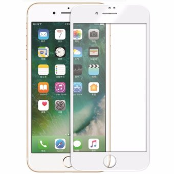 Harga [Crystal Series] Front Ultra Clear 3D Full Coverage Tempered Glass Screen Protector and Back Matte PET Film for Apple iPhone 7 Plus [White Frame] - intl
