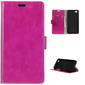 Harga PU Leather Case Wallet Flip Cover for Vivo Y66 - Purple - intl