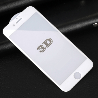 3D Curved Full Cover 9H Hardness Tempered Glass Screen Protector Film for iPhone 7 Plus 5.5inch (Not Carbon Fiber) (White) - intl