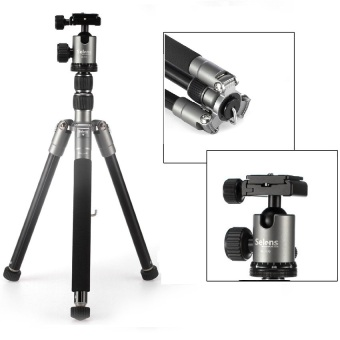 Harga Selens T170 62in Professional SLR Camera Aluminum Tripod / Monopod for Cameras and Camcorders (Grey) - Intl