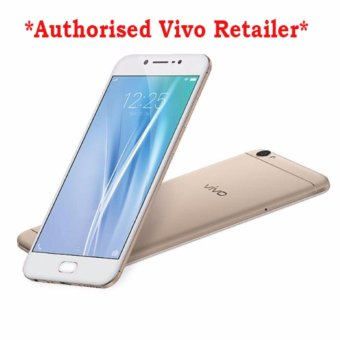 Harga Vivo V5 32GB LTE Dual Sim + Free Tempered Glass and Flip Cover