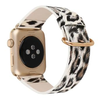 Harga Leopard Print Leather Watchband Strap for Apple Watch Series 2/1 - 42mm - intl