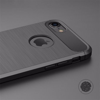 Harga SANHE Carbon Fiber Texture Armor Lightweight Phone Protection Non-slip Anti-fingerprint Anti-scratch Shockproof Case Cover For Apple iPhone7plus 5.5inch - intl
