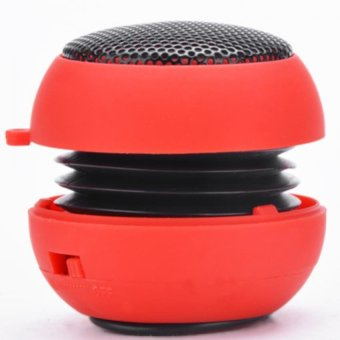 Harga Cyber Portable Usb Mp3 Speaker Stereo Mini Speaker (Red)
