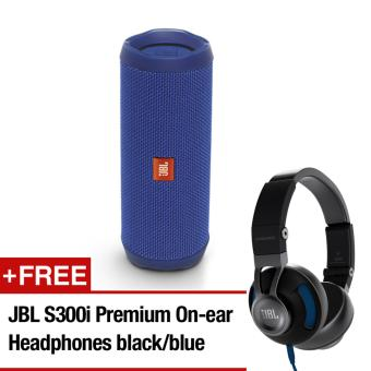 Harga [Pre-Order] JBL Flip 4 (BLU) + JBL S300i (Delivery from 5th June 2017 onwards)