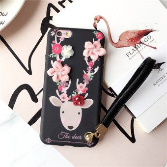 Harga Apple 7plus iPhone7 sika deer cartoon mobile phone shell protective shell soft fabric plus mobile phone shell 5.5