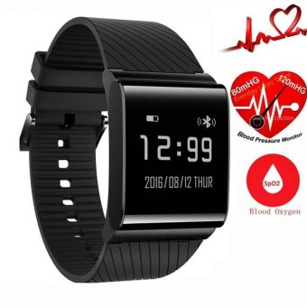 Harga X9 Plus Betreasure Bluetooth Smart Wristband Blood Oxygen Smart fitness Bracelet Heart Rate Monitor Blood pressure Smartband - intl