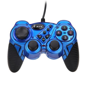 Harga Creative Item USB Wired Game Controller Gamepad Joystick Joypad for Android (Blue) - intl