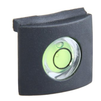 Harga New Black Bubble Spirit Level Hot Shoe Cover Cap for Canon Nikon(Export)(Intl)