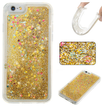 Harga Ueokeird 3D Cool Quicksand Moving Stars Bling Glitter Floating Dynamic Flowing TPU Case Cover For Apple iPhone 6 / 6s - intl