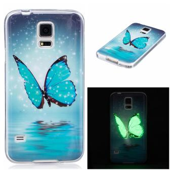 Harga Ueokeird Ultra Thin Luminous Embossed Slim Soft Silicone Phone Case Skin TPU Cover For Samsung Galaxy S5 - intl