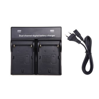 Harga New Dual Channel Battery Charger for SONY NP-F970 F750 F960 QM91D FM50 FM500H FM55H Battery