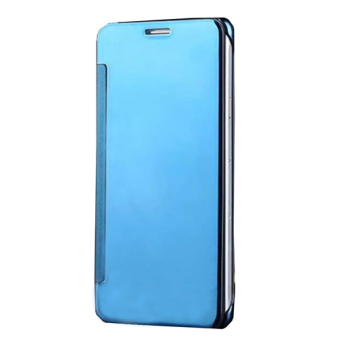 Harga Plating PC Mirror Flip Case Cover for Samsung Galaxy S6 Edge Plus[Sky Blue]