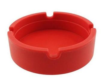 1 Pcs Portable Rubber Silicone Soft Eco-Friendly Round Ashtray Ash Tray Holder - intl
