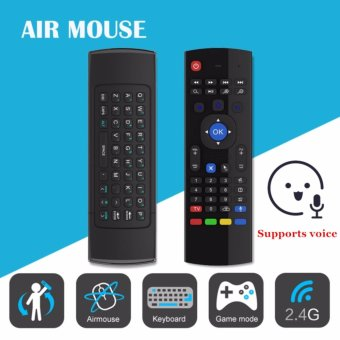Harga SANHE MX3-M 2.4G Fly Air Mouse Wireless Keyboard Support voice Remote for Android Smart TV BOX MX MXQ MX3 T8 XBMC - intl