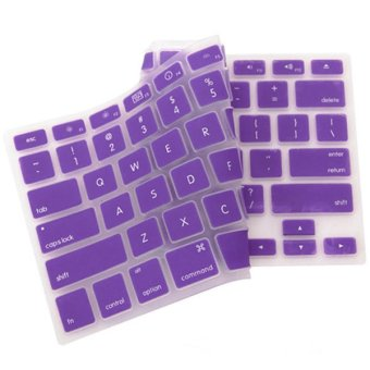 Harga Silicone Keyboard Cover Skin for Apple Macbook Pro MAC 13 15 17 Air 13 (Purple)