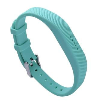 Harga Fitbit Flex 2 Bands Silicone Replacement Strap Wristband Bracelet with Metal Buckle for Fitbit Flex 2 Fitness Band Accessory - intl