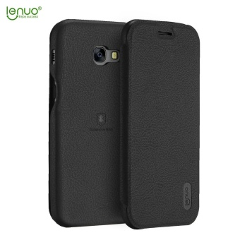 Harga LENUO Ultra Thin Flip Cover Case Soft Leather Cell Phone Cases For Samsung Galaxy A7 2017 / A720F - intl