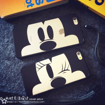Harga Japan and south korea mickey minnie couple iphone5s phone shell apple 6 s/plus soft cartoon protective sleeve 5.5
